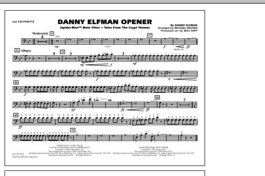 Danny Elfman Opener - 2nd Trombone (Marching Band)