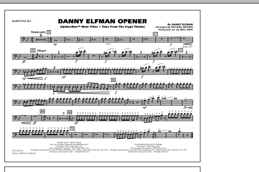 Danny Elfman Opener - Baritone B.C. (Marching Band)