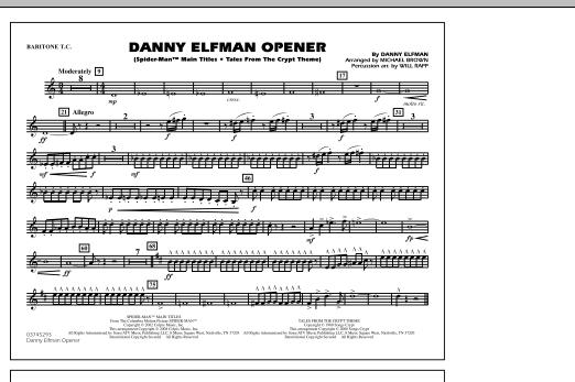Danny Elfman Opener - Baritone T.C. (Marching Band)