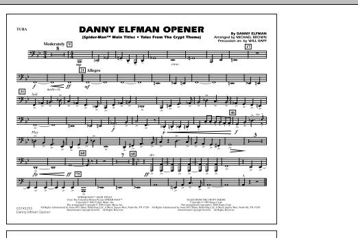 Danny Elfman Opener - Tuba (Marching Band)