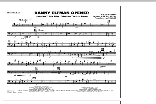 Danny Elfman Opener - Electric Bass (Marching Band)