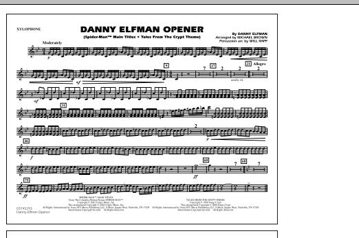 Danny Elfman Opener - Xylophone (Marching Band)