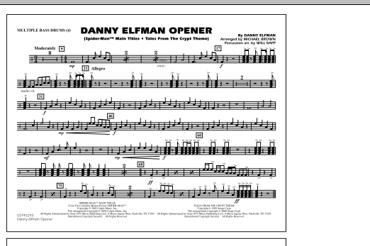 Danny Elfman Opener - Multiple Bass Drums (Marching Band)