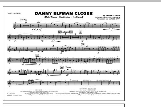 Danny Elfman Closer - 1st Bb Trumpet (Marching Band)