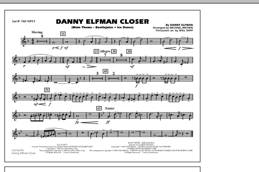 Danny Elfman Closer - 2nd Bb Trumpet (Marching Band)