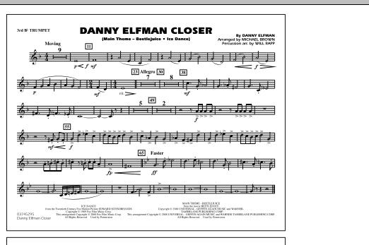 Danny Elfman Closer - 3rd Bb Trumpet (Marching Band)