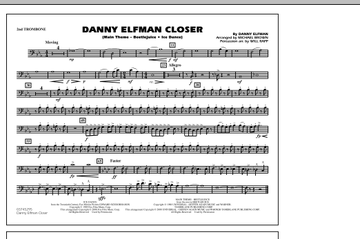 Danny Elfman Closer - 2nd Trombone (Marching Band)