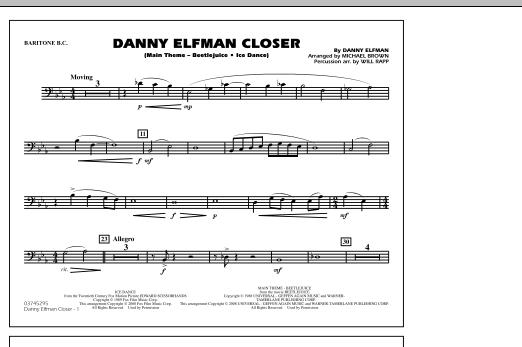 Danny Elfman Closer - Baritone B.C. (Marching Band)