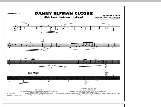 Danny Elfman Closer - Baritone T.C. (Marching Band)