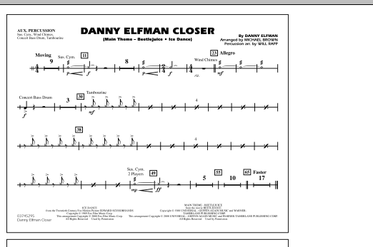 Danny Elfman Closer - Aux Percussion (Marching Band)