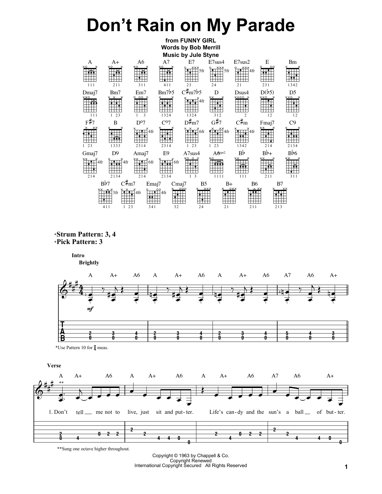 Don't Rain On My Parade Sheet Music