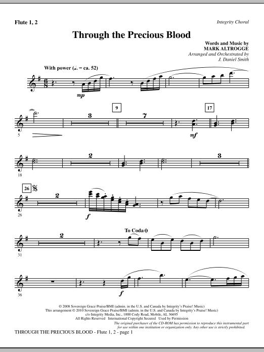 Through The Precious Blood - Flute 1 & 2 Sheet Music
