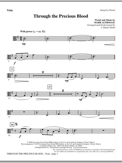 Through The Precious Blood - Viola (Choir Instrumental Pak)