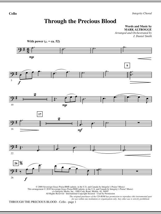Through The Precious Blood - Cello (Choir Instrumental Pak)