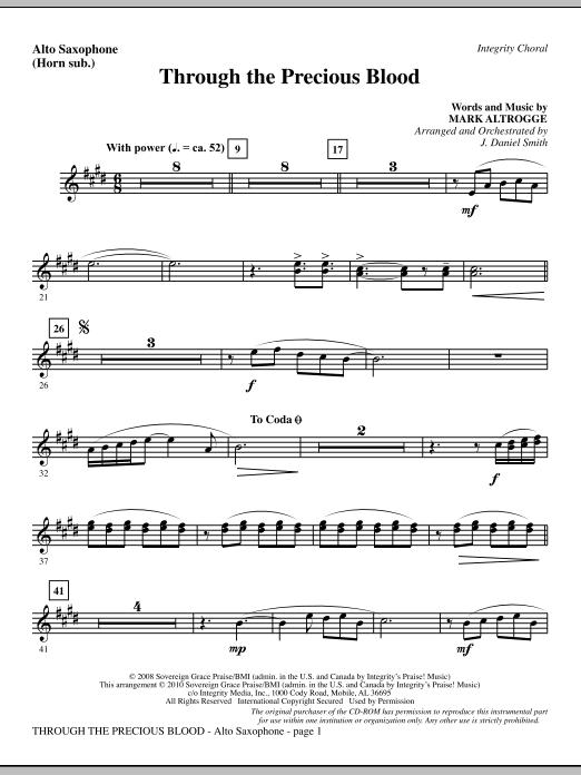 Through The Precious Blood - Alto Sax (sub. Horn) (Choir Instrumental Pak)