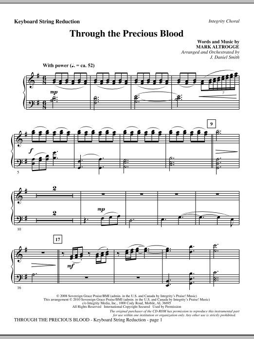 Through The Precious Blood - Keyboard String Reduction Sheet Music