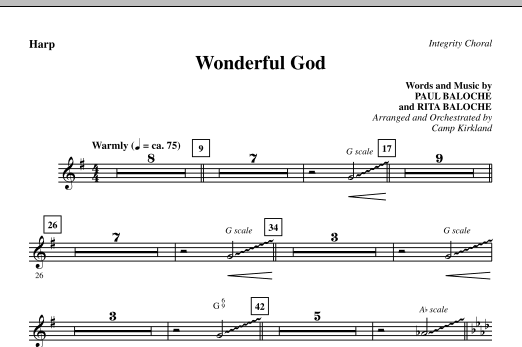 Wonderful God - Harp Sheet Music