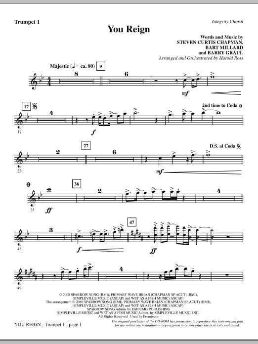 You Reign - Trumpet 1 (Choir Instrumental Pak)