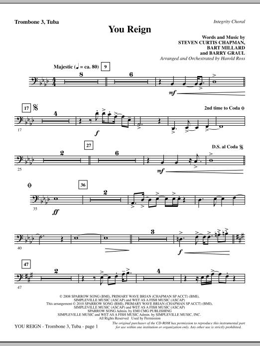 You Reign - Trombone 3/Tuba (Choir Instrumental Pak)