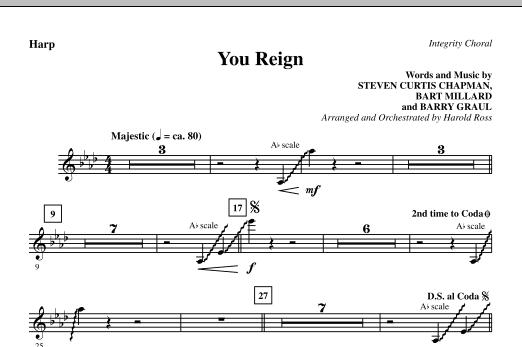 You Reign - Harp (Choir Instrumental Pak)