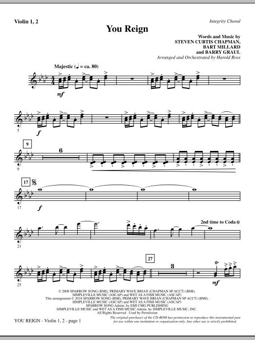 You Reign - Violin 1, 2 (Choir Instrumental Pak)
