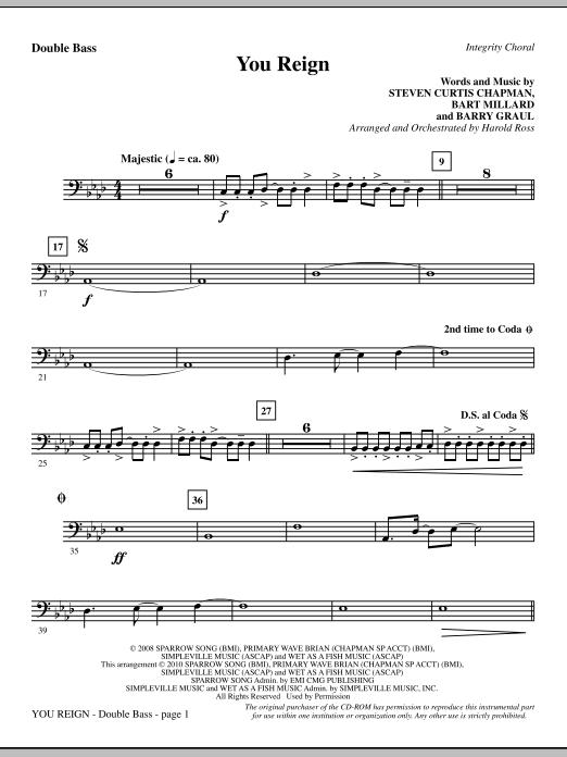 You Reign - Double Bass Sheet Music