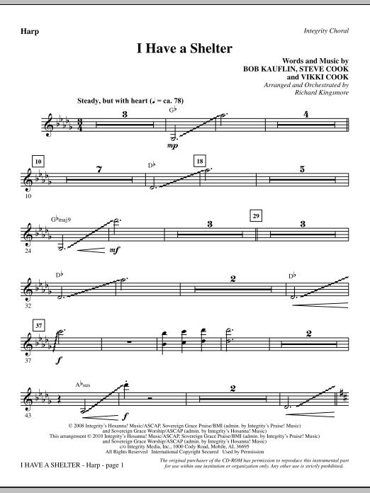 I Have A Shelter - Harp Sheet Music