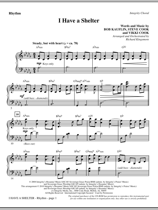 I Have A Shelter - Rhythm Sheet Music