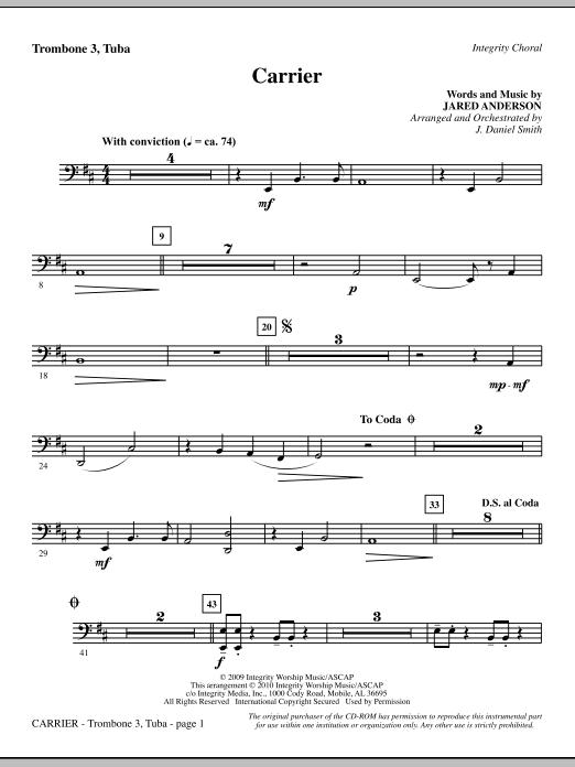Carrier - Trombone 3/Tuba Sheet Music
