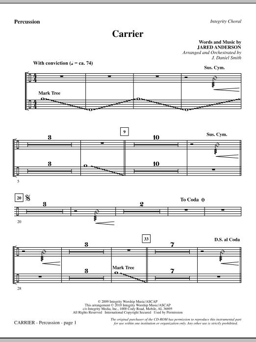 Carrier - Percussion (Choir Instrumental Pak)