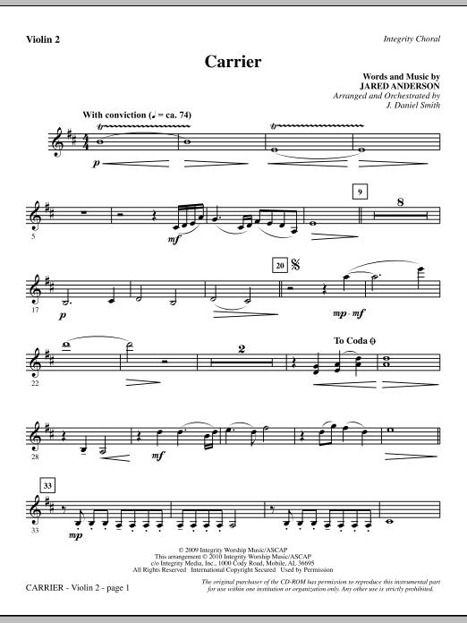 Carrier - Violin 2 (Choir Instrumental Pak)