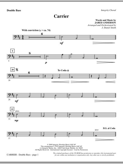Carrier - Double Bass Sheet Music