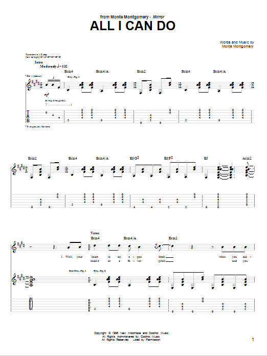 All I Can Do Sheet Music