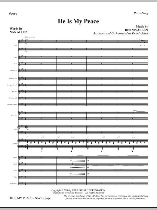 He Is My Peace - Full Score (Choir Instrumental Pak)