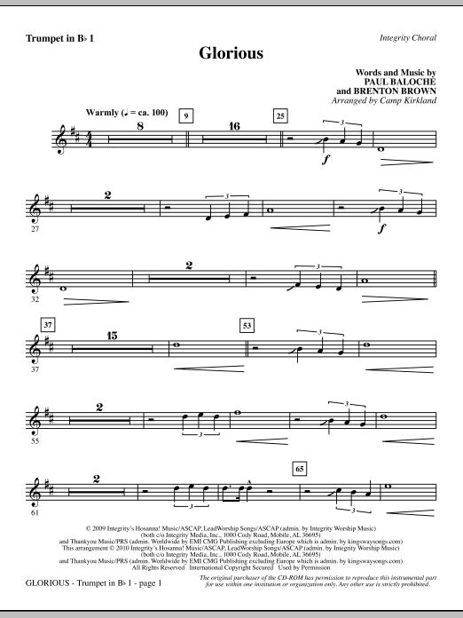 Glorious - Trumpet 1 (Choir Instrumental Pak)