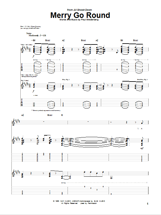 Tablature guitare Merry Go Round de The Replacements - Tablature Guitare