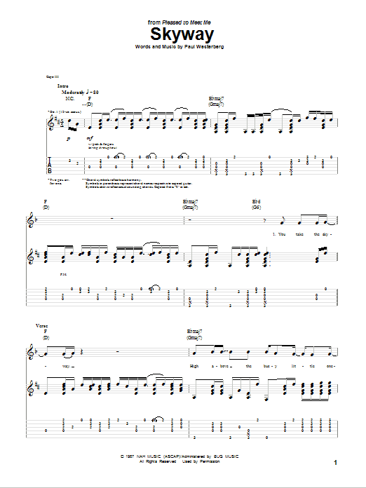 Skyway Sheet Music
