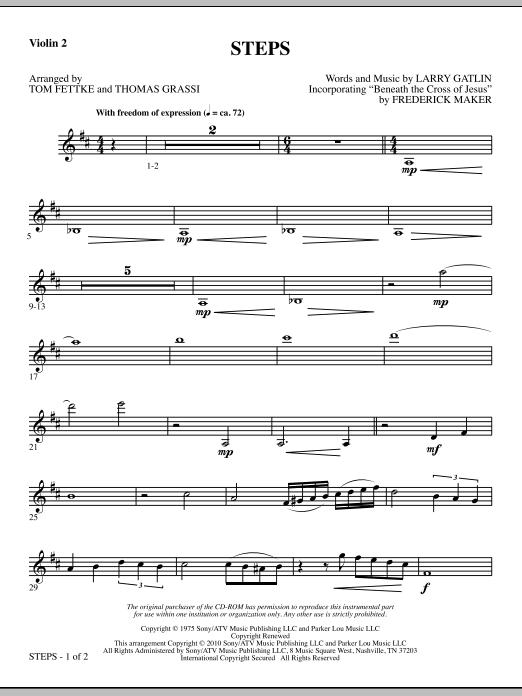 Steps - Violin 2 (Choir Instrumental Pak)
