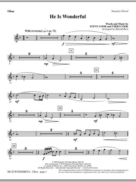 He Is Wonderful - Oboe (Choir Instrumental Pak)