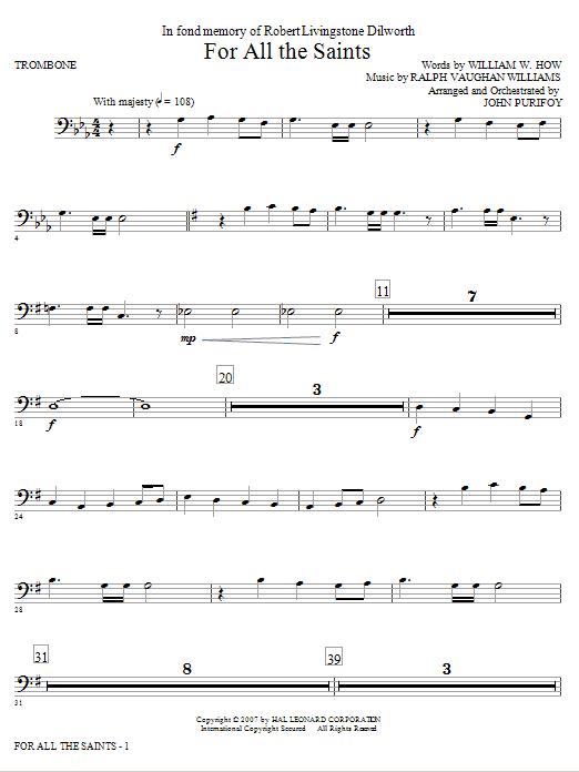 For All The Saints - Trombone (Choir Instrumental Pak)