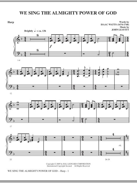 We Sing The Almighty Power Of God - Harp (Choir Instrumental Pak)