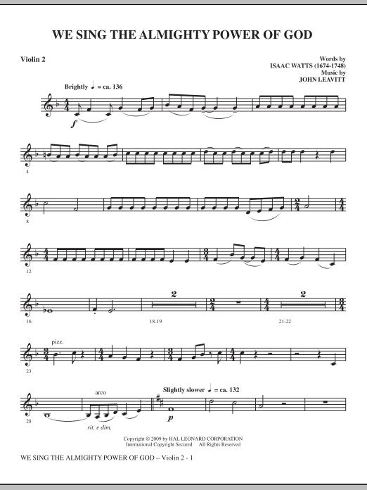 We Sing The Almighty Power Of God - Violin 2 (Choir Instrumental Pak)