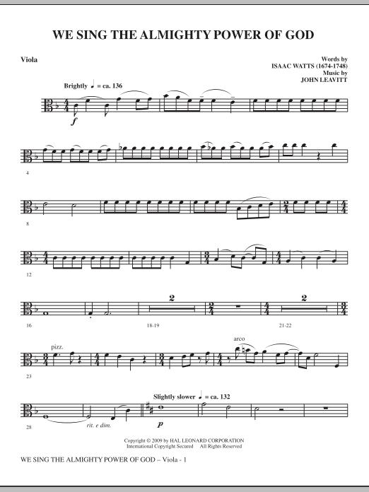 We Sing The Almighty Power Of God - Viola (Choir Instrumental Pak)