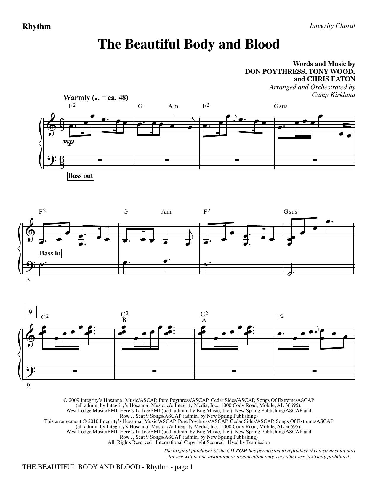 The Beautiful Body And Blood - Rhythm (Choir Instrumental Pak)