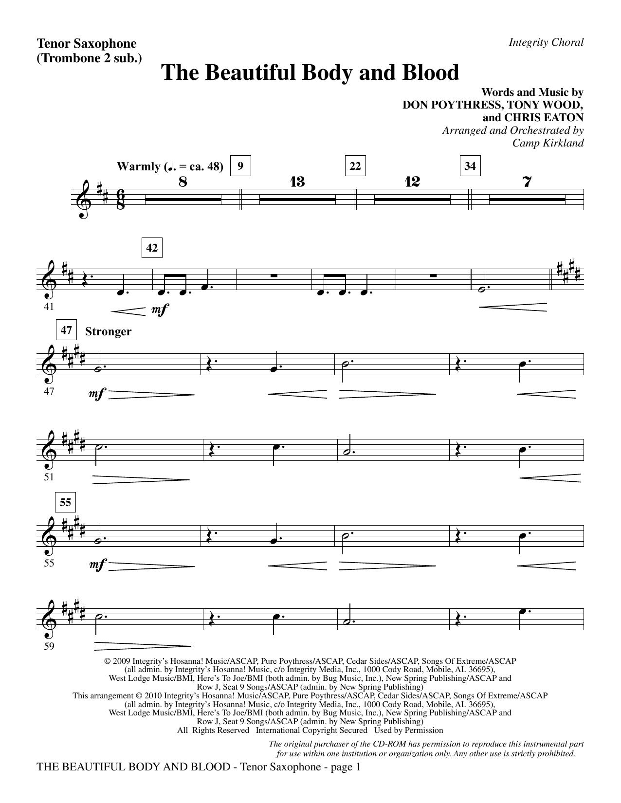 The Beautiful Body And Blood - Tenor Sax (sub. Tbn 2) (Choir Instrumental Pak)
