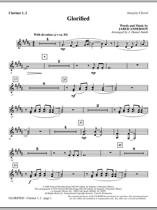 Glorified - Clarinet 1 & 2 (Choir Instrumental Pak)