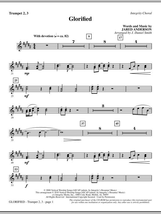 Glorified - Trumpet 2 & 3 (Choir Instrumental Pak)