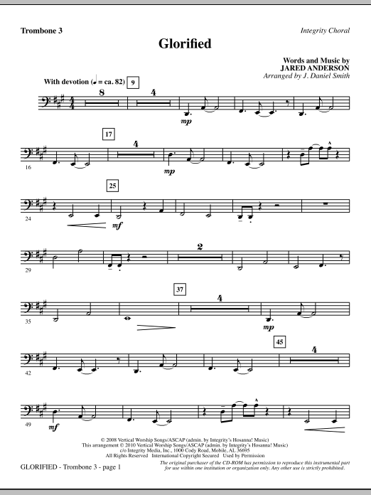 Glorified - Trombone 3 (Choir Instrumental Pak)