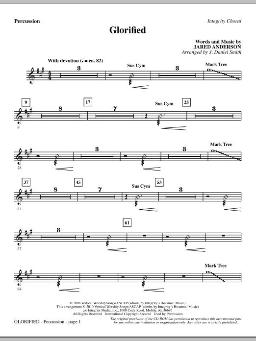 Glorified - Percussion (Choir Instrumental Pak)