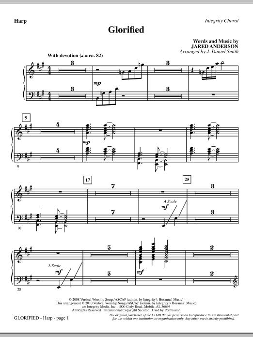 Glorified - Harp (Choir Instrumental Pak)